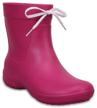 Women's Crocs Freesail Shorty Rain Boots красный, 203851, размер 41