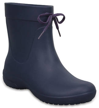 Women's Crocs Freesail Shorty Rain Boots синий, 203851, размер 38
